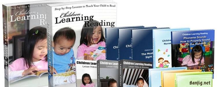 Children Learning Reading R